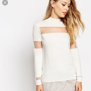 New! Beautiful Asos sweater with sheer panel